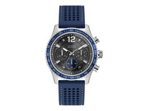Часы наручные Guess, мужские, d44, серебряный/синий фото
