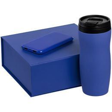 Набор Formation (термостакан, внешний аккумулятор 5000 мАч), синий фото