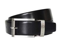 Ремень CROSS Classic Century двухсторонний, классическая пряжка из металла, 117 см., черный, серебряный, коричневый фото