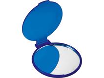 Зеркальце косметическое карманное Красотка, синий фото