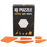 Головоломка IQ Puzzle Figures в виде шестиугольника, стекло, оранжевая фото