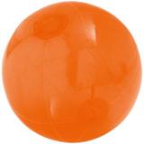 Надувной пляжный мяч Sun and Fun, полупрозрачный оранжевый фото