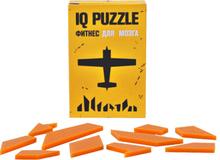 Головоломка IQ Puzzle в виде самолета, стекло, оранжевая фото