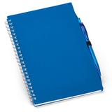 Блокнот с ручкой Loop Up, 70 стр., синий фото