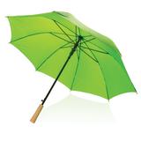 "Автоматический зонт-антишторм из RPET 23"", зелёный фото"
