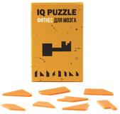 Головоломка IQ Puzzle в виде ключа, стекло, оранжевая фото