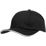 Бейсболка Bizbolka Canopy, черная с белым кантом фото