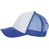 Бейсболка BUBBLE, синяя с белым фото