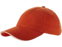 Бейсболка Challenge 6 клиньев сэндвич, оранжевый/белый фото