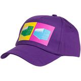 Бейсболка LogicArt, фиолетовая фото