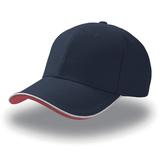 Бейсболка PIPING SANDWICH 6 клиньев, темно-синий фото