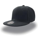 Бейсболка SNAP BACK 6 клиньев, плоский козырек, черный фото