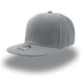 Бейсболка SNAP BACK 6 клиньев, плоский козырек, серый фото