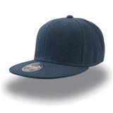 Бейсболка SNAP BACK 6 клиньев, плоский козырек, темно-синий фото