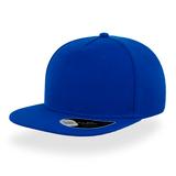 Бейсболка Snap Five, 5 клиньев, пластиковая застежка, синяя фото
