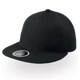 Бейсболка SNAP-ONE, плоский козырек, черный фото