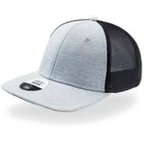 Бейсболка STRETCH-FIT, 6 клиньев, без застежки, размер L/XL, серо-черная фото