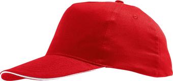 Бейсболка SUNNY, красная с белым фото