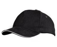 Бейсболка Unit Classic, черная с белым кантом фото