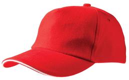 Бейсболка Unit Classic, красная с белым кантом фото