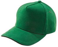 Бейсболка Unit Classic, ярко-зеленая с черным кантом фото