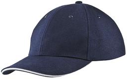 Бейсболка Unit Generic, темно-синяя с белым кантом фото