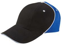 Бейсболка UNIT SMART, черная с синим фото