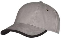 Бейсболка Unit Trendy, серая с черным фото