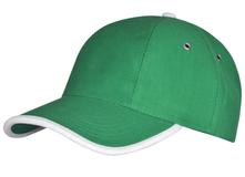 Бейсболка Unit Trendy, зеленая с белым фото