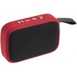 Беспроводная колонка с FM-радио Borsetta, красная фото