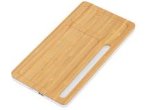 Беспроводное зарядное устройство-органайзер Timber, бамбуковый фото
