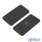 Беспроводное зарядное устройство Ten SOFTTOUCH, 10000 mAh, Qi стандарт, черное фото