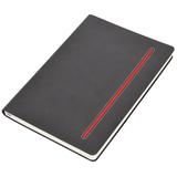Бизнес-блокнот в клетку Elegance А5, серый/красный фото