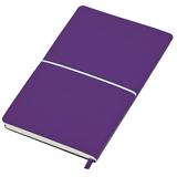 Бизнес-блокнот в линейку на резинке thINKme Franky А5, фиолетовый/ белый фото