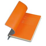 Бизнес-блокнот в линейку Funky А5, серый/оранжевый форзац фото