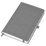 Бизнес-блокнот в линейку на резинке thINKme Justy А5, 256 стр., серый фото
