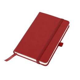 Бизнес-блокнот в клетку на резинке thINKme Justy А6, 192 стр., красный фото