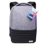Бизнес рюкзак Portobello с USB разъемом, Leardo, 475х330х150 мм, серый/серый фото