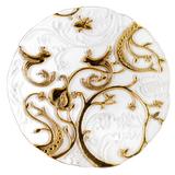 Блюдо декоративное Райские птицы, 450мм, белый/золото фото