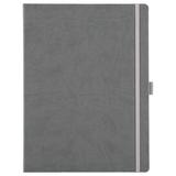 Блокнот в линейку на резинке Freenote Maxi, серый фото