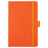Блокнот в линейку на резинке Freenote, оранжевый фото