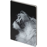 Блокнот Like a Lion, в линейку, черный фото