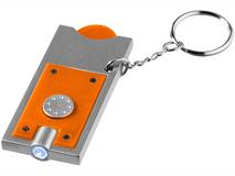 Брелок - фонарик и держатель для монет Allegro, оранжевый фото