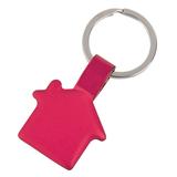 Брелок в виде домика с петелькой, красный фото