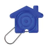 Брелок в виде домика, синий фото