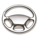 Брелок Руль, серебряный фото
