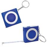 Брелок - рулетка с фонариком, ярко синий фото