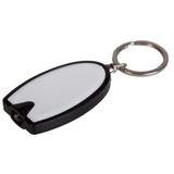 Брелок - фонарик Vivid, черный/белый фото