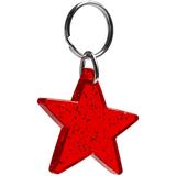 Брелок акриловый Star, красный фото