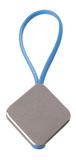Брелок квадратный Talisman, голубой/серый фото